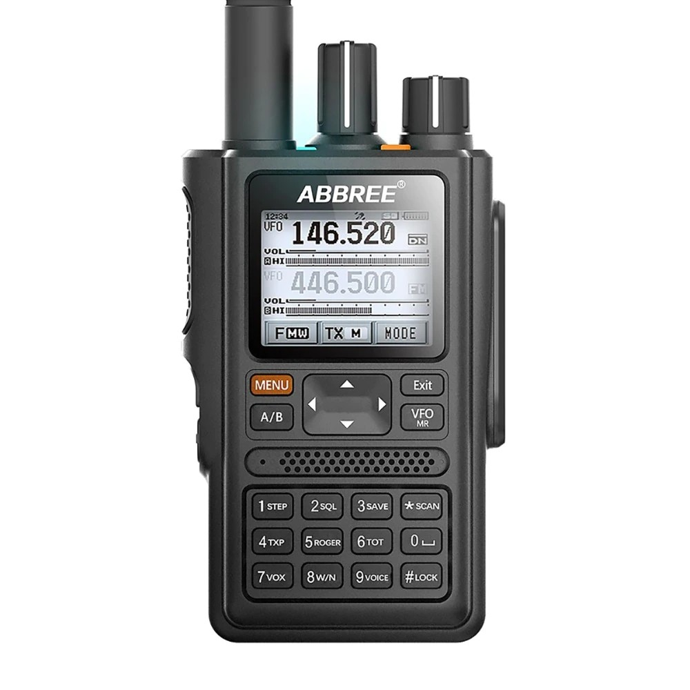 ABBREE AR-F8 GPS high power All Bands(136-520MHz) Frequency/CTCSS Detection Walkie Talkie
