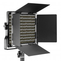 Neewer 3200-5600K Bicolore Dimmerabile CRI 95660 LED Light + Staffa a U Barndoor per fotografia video